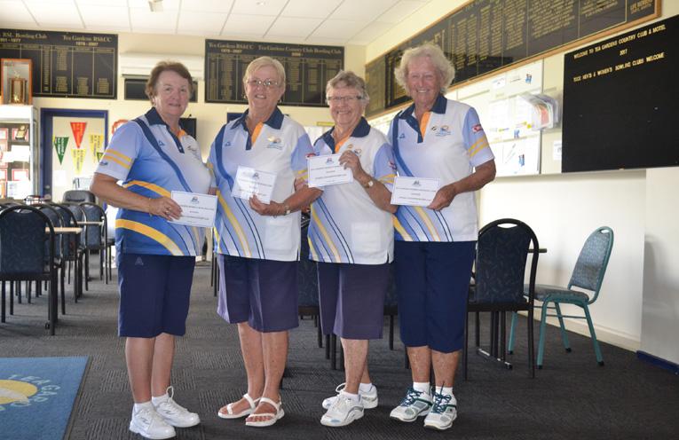 Winners Club Championship Fours 2018 Lorraine Harvey, Lynne Green, Bev Stephens and Bette Saillard.