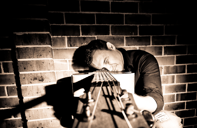 Jamie Martens at Nelson Bay Bowling Club this friday evening.