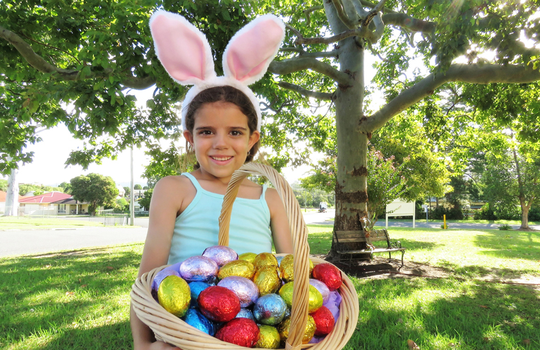 Easter Fun: Abbiegail Ray enjoys hunting for eggs.