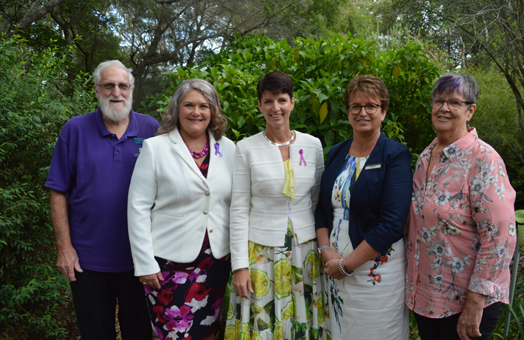 Attending the International Women's Day Breakfast, Kevin Stores (Chairman of the Botanic Gardens), Meryl Swanson, MP, Kate Washington, MP, Deb Dibley (Principal, Hunter River High), and Colleen Whittle (Manager, Port Stephens Family and Neighbourhood Services)