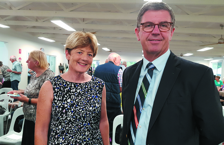 OFFICIAL CLUBHOUSE OPENING:: Catherine Cusack MLC and Federal Member for Lyne, Dr David Gillespie.
