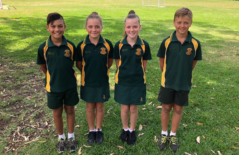 2018 Salt Ash Public School leaders - Lucian Knight, Gabby Rooney, Joanna Booth and Patrick Slade