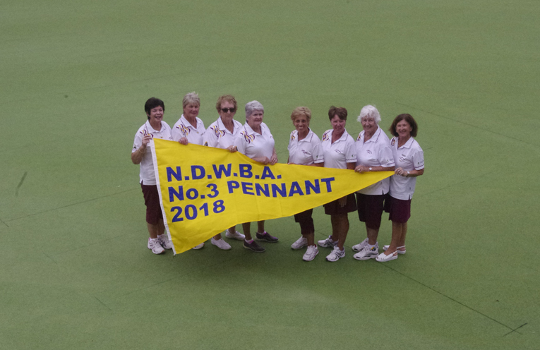 The winning teams from Fingal Bay Sport and Recreation Club Margaret Gallagher, Lorretta Halpin, Joan McLeod, Cheryl Johnstone, Claudia Perin, Kerry McFadden, Helen Brunt and Ann Ible. Photo by Marian Sampson.