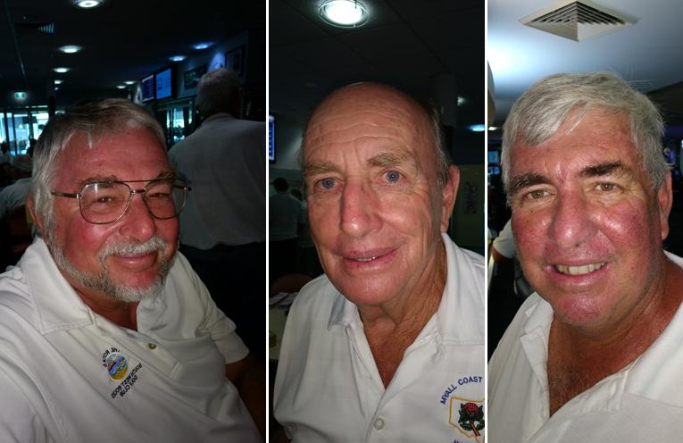 A Grade winner Ian Richardson. (left) B Grade winner Darrell Scott. (center) C Grade winner Barrie Newton. (right)