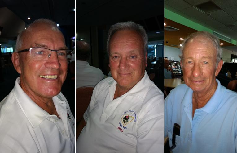 A Grade winner John Lashwood. (left) B Grade winner Ross Kirwan. (center) C Grade Richard Kemp. (right)