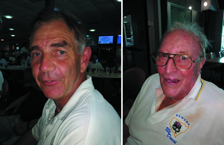 A Grade winner Grahame Brydon. (left) B Grade winner David Bruce.  (right)