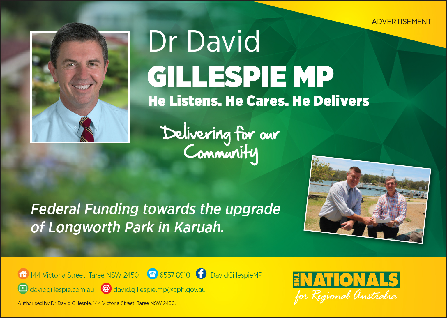 Dr David Gillespie MP -Member for Lyne
