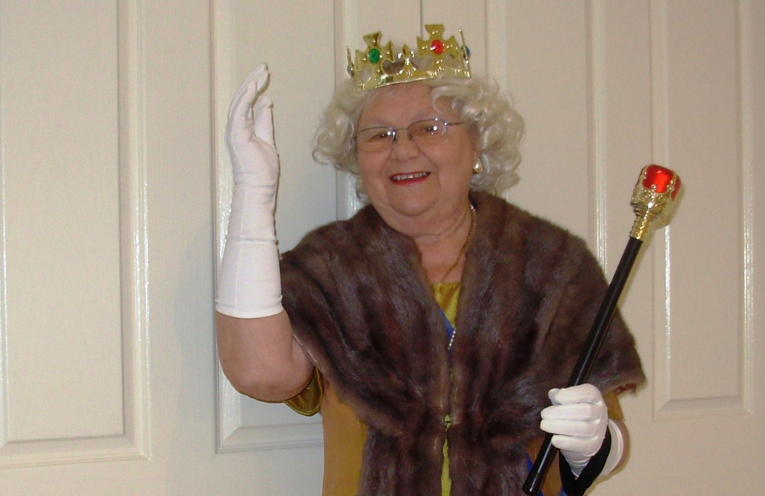 Fay Tranter ready for a Royal Appearance with the VIEW Club.