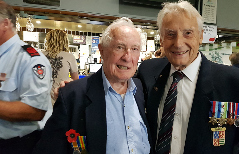 ELDER STATESMEN: Roy Day and Richard Milburn.