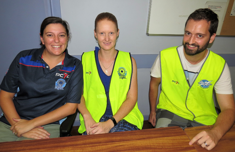 Committee members Aleesha Ray, Jess Gordon and Dave Feeney.