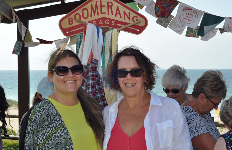 BOOMERANG BAG VOLUNTEERS: Brooke Feltis and Julie Sims.