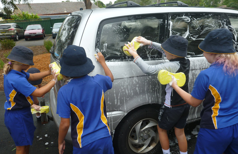 Irrawang students hard at work raising funds for Cambodian school children.