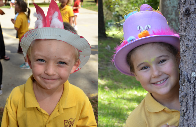 All smiles at Tea Gardens hat parade.