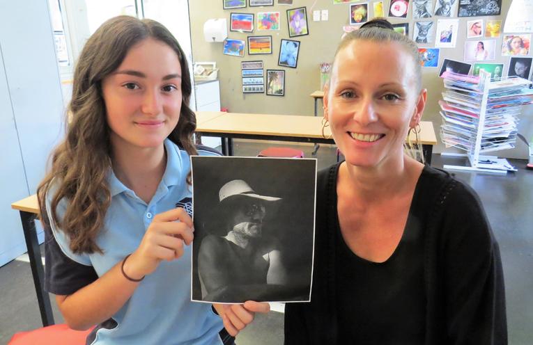 Katerina Poniris and BCS photography teacher Mrs Tara Smith.