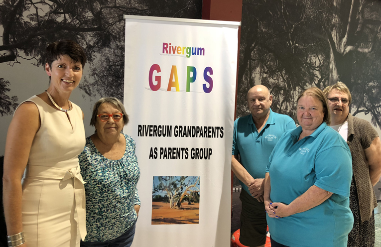 Kate Washington MP, Carol Mills, Cheryl Turner, Gavin Green and Heather Barber from the GAPS group.