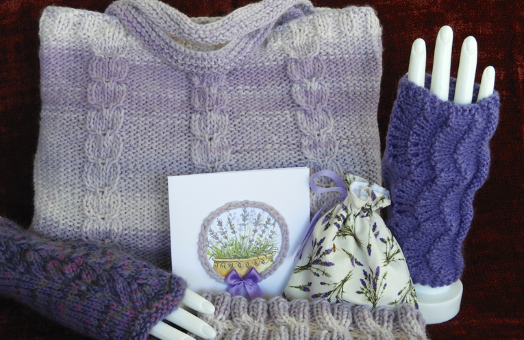 Lavender and lace is the theme.