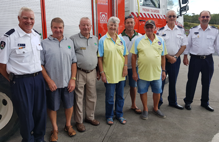 MOTORFEST DONATION DAY::  Peter Plain, Ross Anderson, Juergen Seil, Anne-Marie Fowler, Steve Howell, Ray Peters, Peter Economos and Ralph Clark.