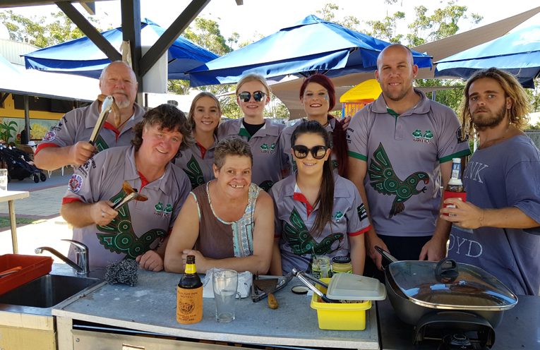 PIGS FLY: Hawks Junior Rugby League Sausage Sizzle.