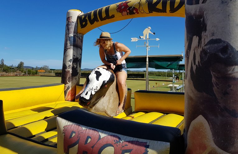 TEA GARDENS COUNTRY CLUB: Mechanical Bull Riding Fun.