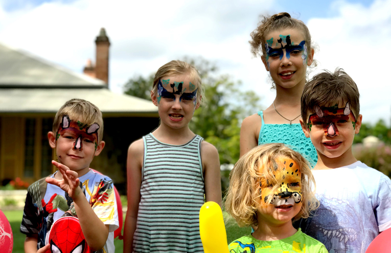 Children enjoyed the free face painting, egg hunt and other activities at the fun day.