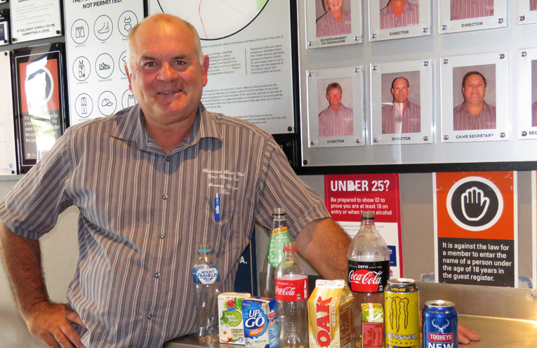 Making Cents: Allan Freihaut shows some of the containers eligible for the 10-cent refund.