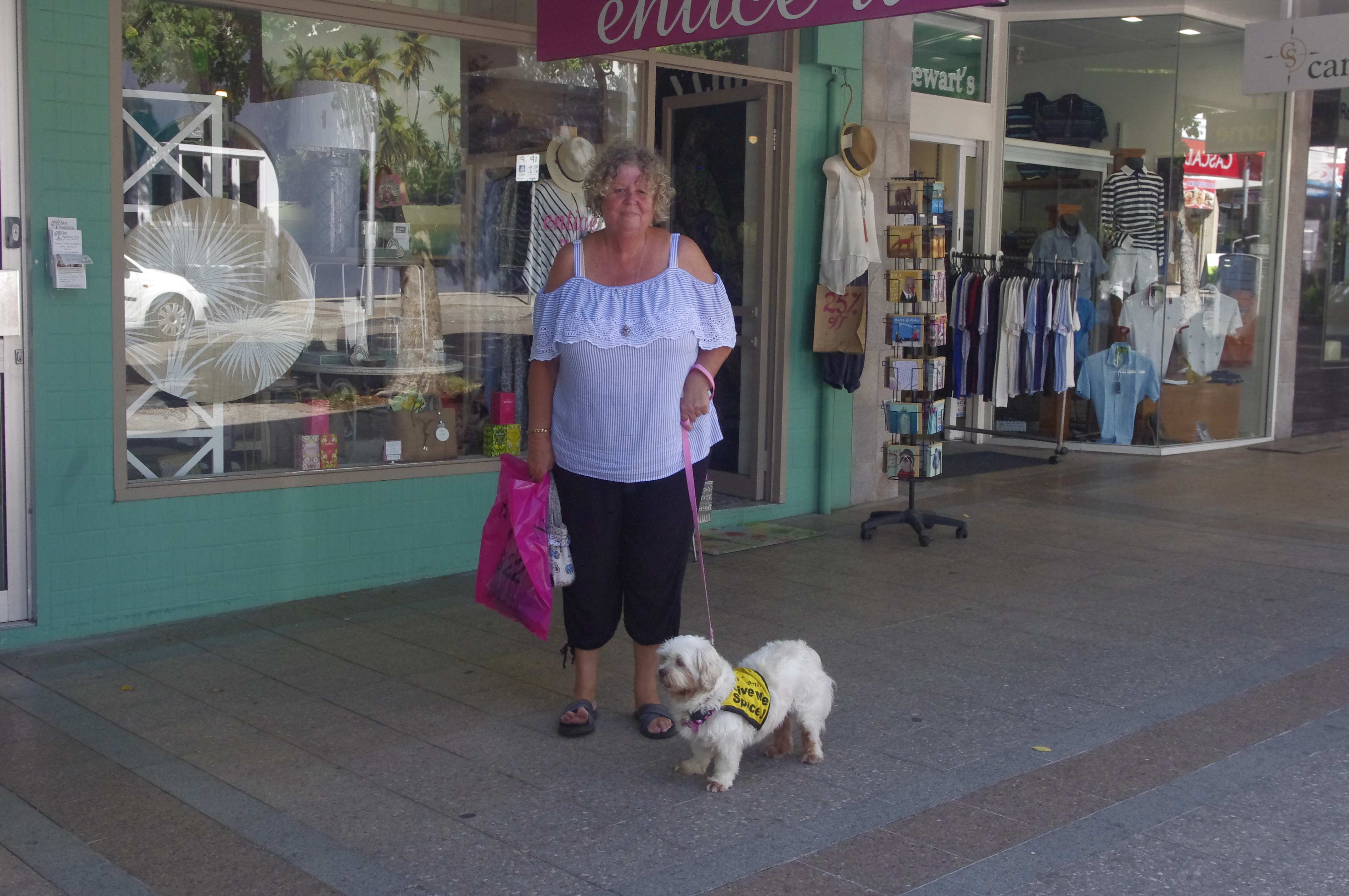 Tinkerbell and Janelle Smith exploring Nelson Bay. Photo by Marian Sampson.