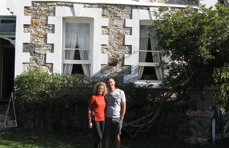 Deirdre and Glenn – new ideas for the future of the Tanilba House.