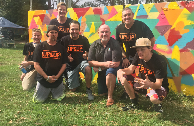 Deputy Mayor Chris Doohan with the team from Up&UP.
