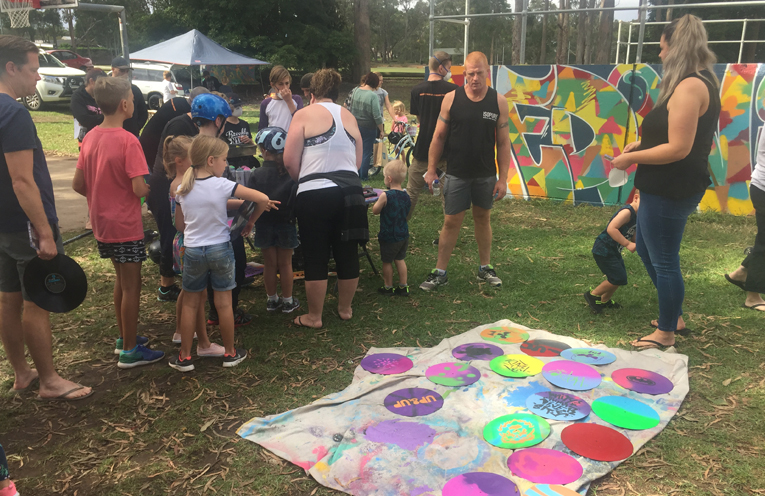 A large crowd enjoyed the activities.