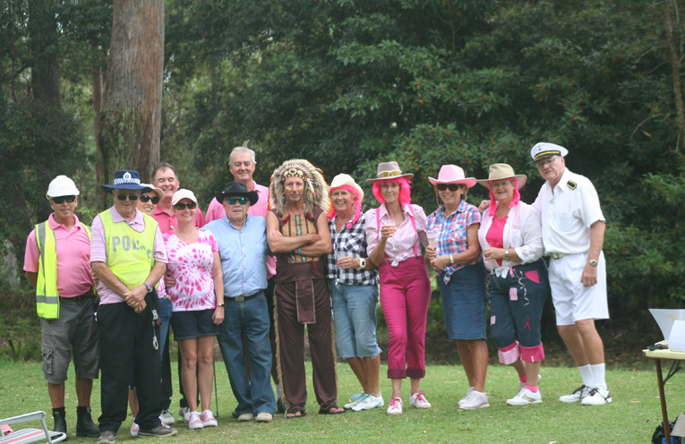 Some of the Players dressed up for the Village People Themed Golf Day.
