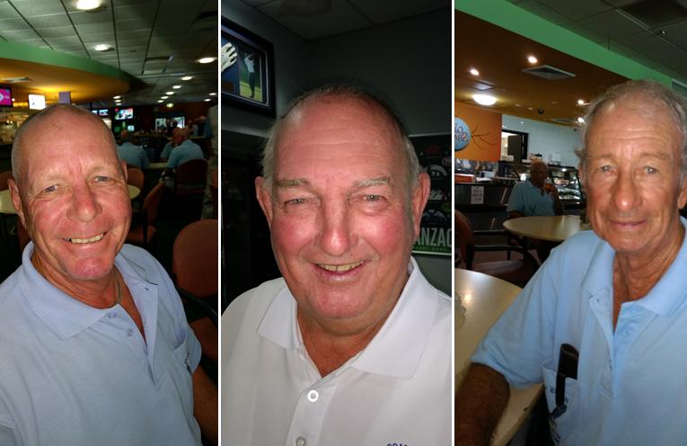 A Grade winner Bruce Clayton.  (left) B Grade winner Don Henderson.  (center) C Grade winner Richard Kemp. (right)