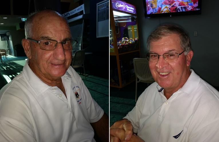 Bob Peters. (left) Gary Edwards (Singleton).  (right)