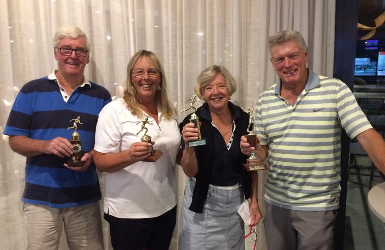 Derek Welsh, Charmaine Elliott, Roz Welsh, Peter Elliott.