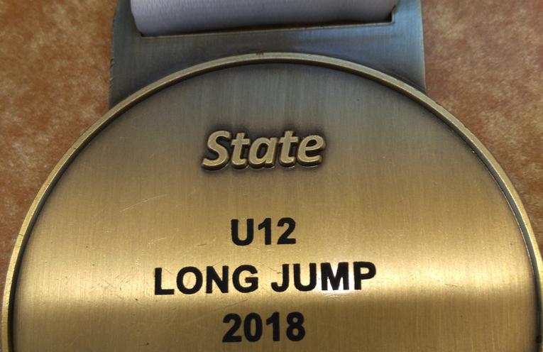 KEIRA McGREGOR'S LONG JUMP CHAMPION: Gold Medal.