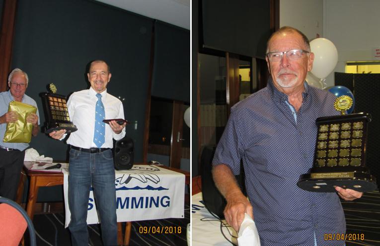 CLUB MEMBER OF THE YEAR: Brad Jensen. (left) ENCOURAGEMENT AWARD: Adrian Reynolds. (right)