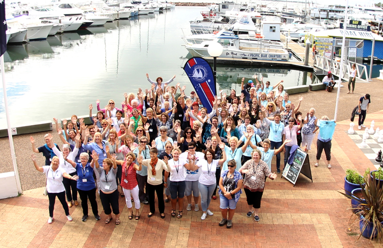 The Women Who Sail attendees.