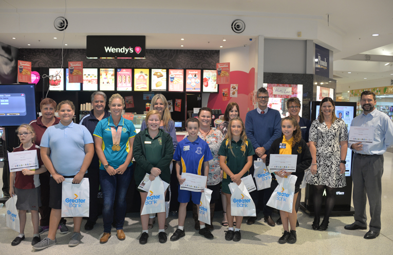 The first PBL stars for 2018 with Commonwealth Gold Medallist Natasha Scott and the Principals of the participating PBL schools.