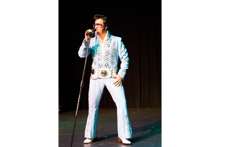 Elvis is ready to rock at Hawks Nest Golf Club.
