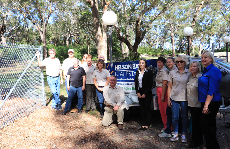 Port Stephens Koalas volunteers happy to be moving forward with the Koala Hospital.