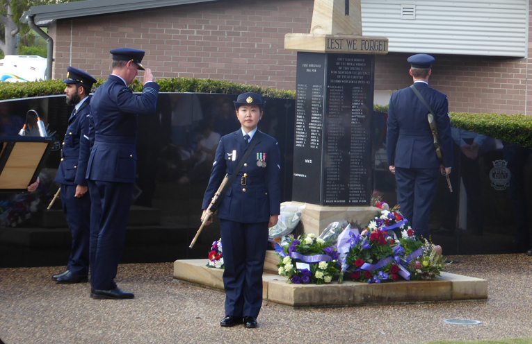 GPCAPT Peter Cluff representing RAAF Base Williamtown.