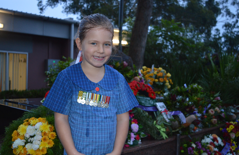 Wirreanda Public School Kindergarten student, Elizabeth (aged 5) marched to honour her father's service.