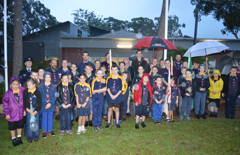 Local groups, including the Scouts, attended the Dawn Service.