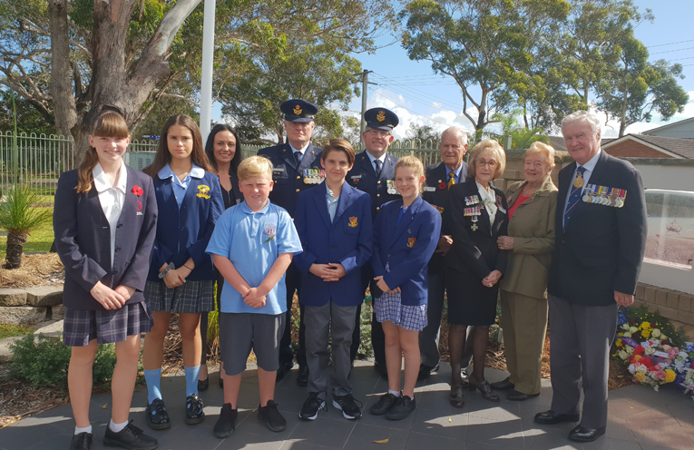 ANZAC DAY SERVICE: Peter Sinclair Gardens Aged Care Facility.