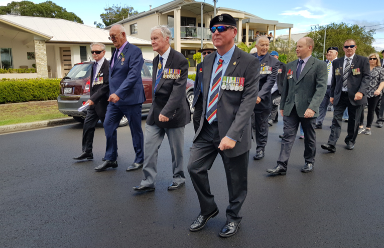 TEA GARDENS: ANZAC Day March.
