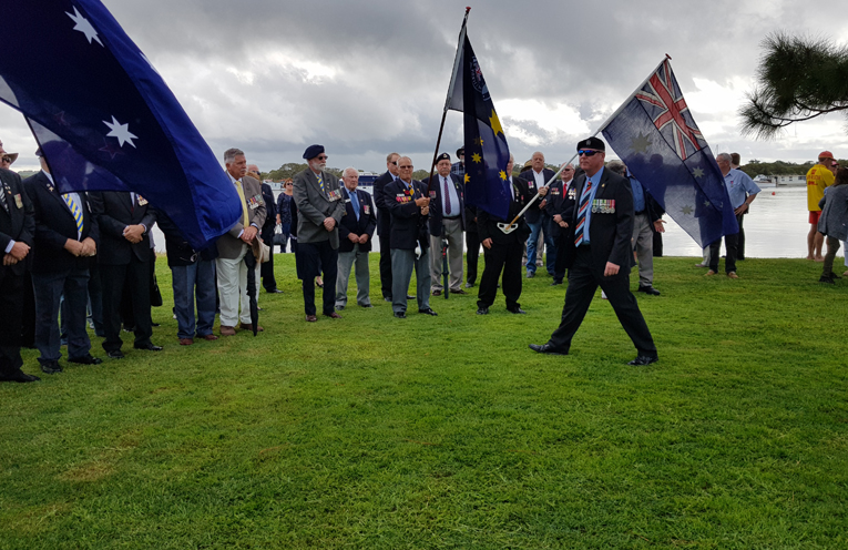TEA GARDENS: ANZAC Day March.