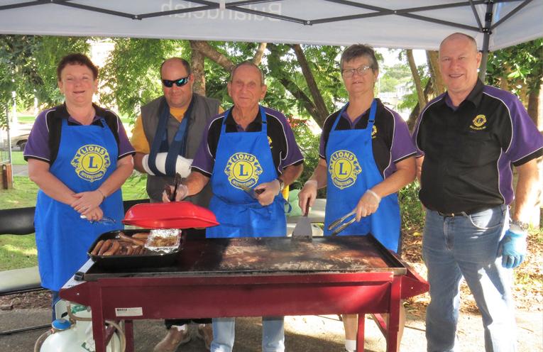 Bulahdelah Lions Club get behind the Blue Light Community Day.