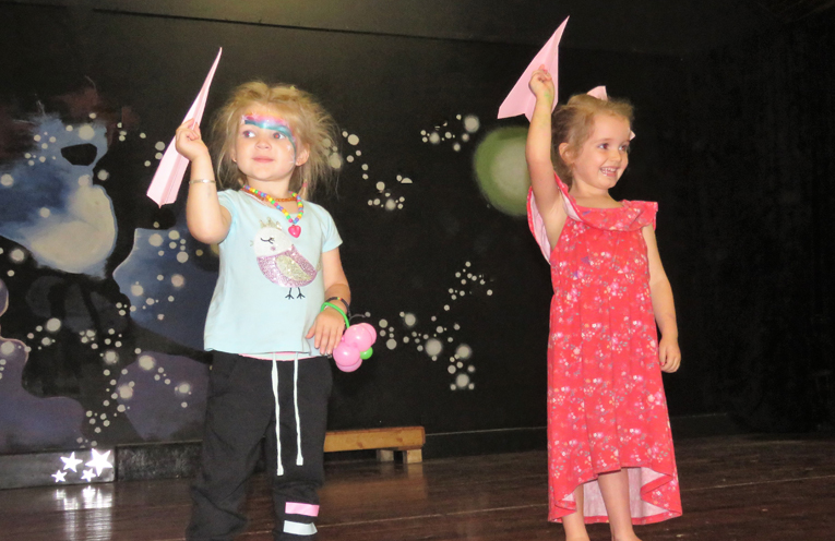 Finalists in the preschool section of the paper plane competition.