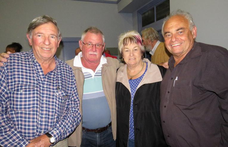 Sam McCorriston, Kevin Smith and Councillors Karen Hutchinson and Len Roberts.