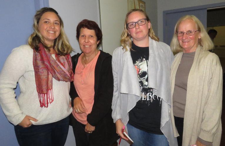Deputy Mayor Katheryn Smith, Tracy Fenning, Ashley Dexter and Ruth Butler.