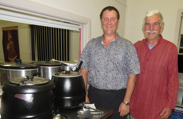 Chef Ken Snellgrove and Assistant Chef Jeff Carryer.